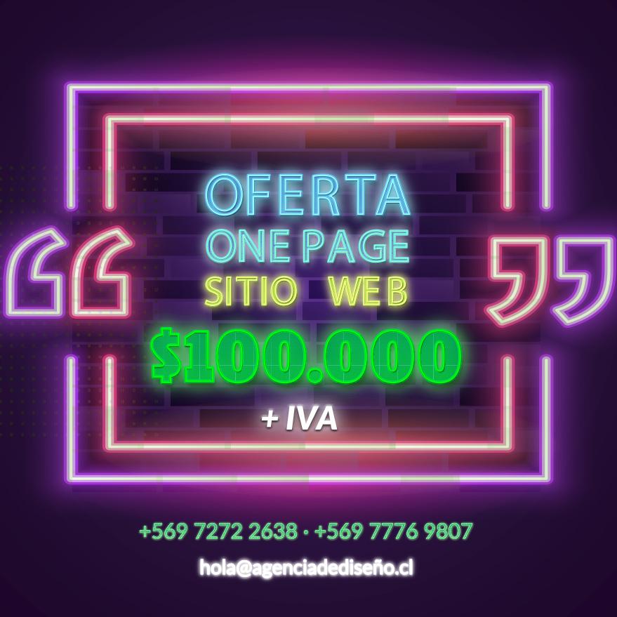 agencia de diseño   oferta one page