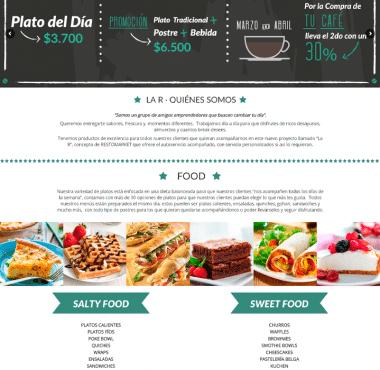 diseño web larfoodcoffee