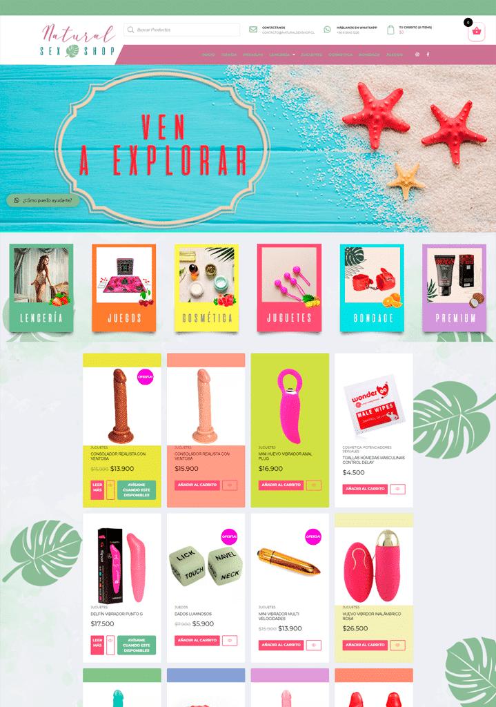 diseño web naturalsexshop